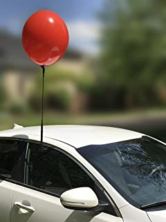 Reusable Balloon Window Kit with Removable Clip and Pole, Car Dealership Advertising, Weatherproof Vinyl (Red)