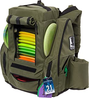 Fusion Pro Disc Golf Backpack w/ Built-In Seat - 25+ Disc Capacity Frisbee Golf Bag by Baglane