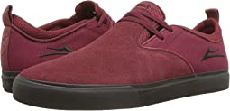 Burgundy/Black Suede