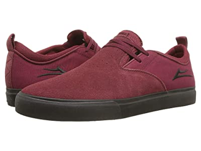 Lakai Riley 2 (Burgundy/Black Suede) Men