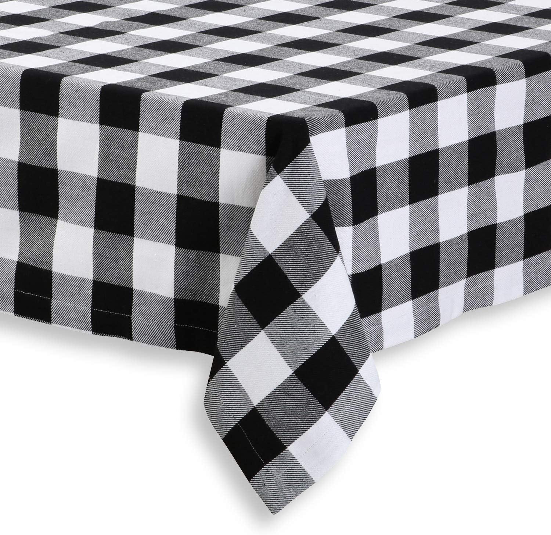 Charcoal Buffalo Check Gingham by Sugarfresh Rectangular Tablecloth Picnic Bantam Cotton Sateen Tablecloth  Spoonflower Fabric