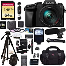 Panasonic DMC-G7HK Digital Single Lens Mirrorless Camera 14-140 mm Lens Kit, 4K + Accessory Bundle + Transcend 64 GB High Speed 10 UHS-3 + Polaroid 72