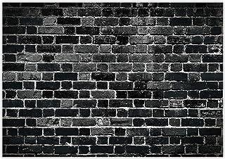 Allenjoy Fotohintergrund, 2,1 x 1,5 m, schwarze Ziegelsteinwand, Retro Portrait, Fotohintergrund für Babys, Kinder, Jungen, Geburtstag, Party, Dekoration, Banner, Fotokabine, Fotokabine, Requisiten