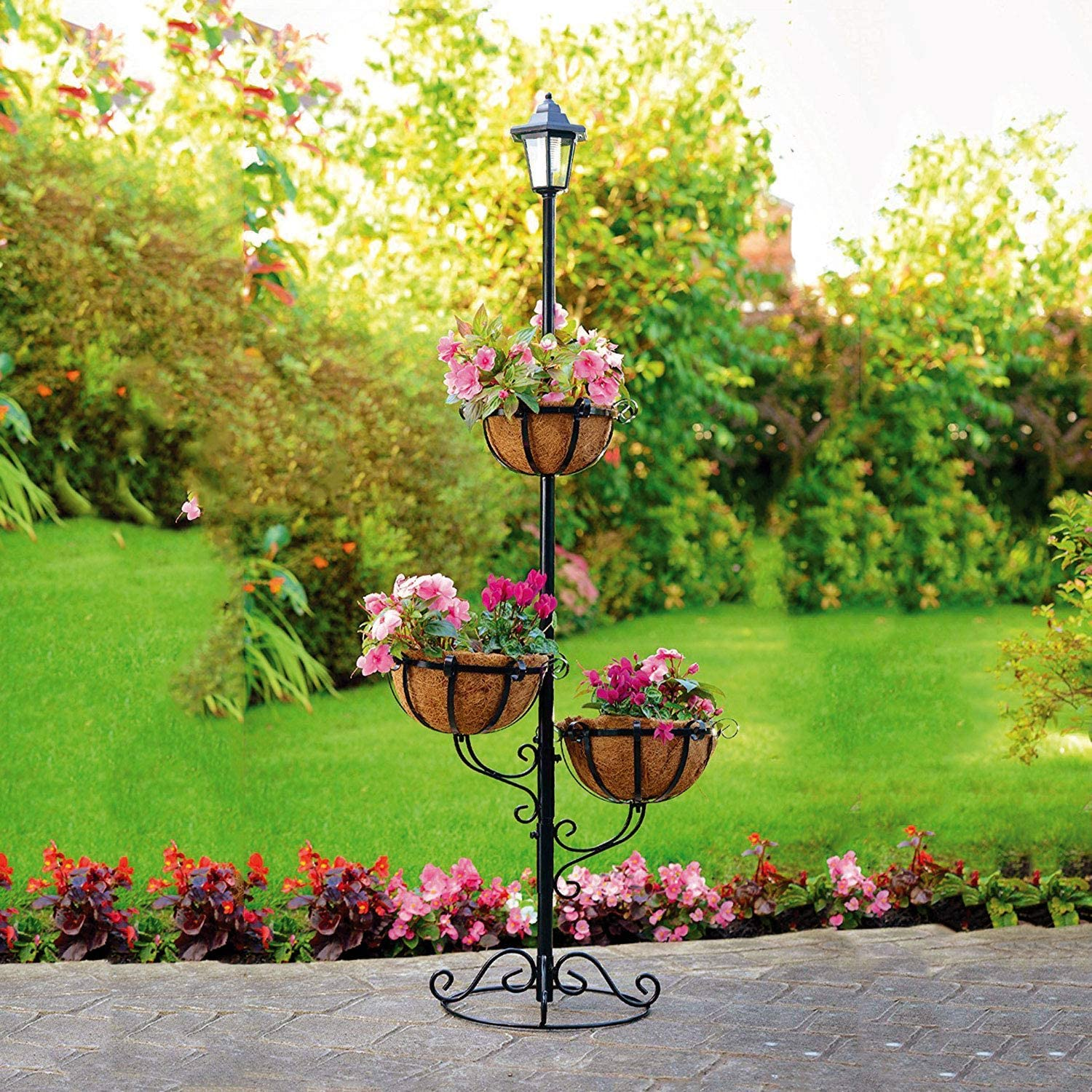 13+ Parkland® Solar Powered 8 Tier Stylish Flower Planter with White ... Stock