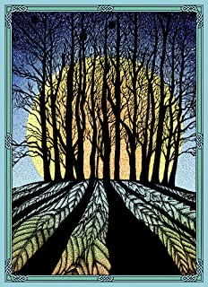 Tree-Free Greetings Solstice Cards and Envelopes, Set of 10, 5 x 7