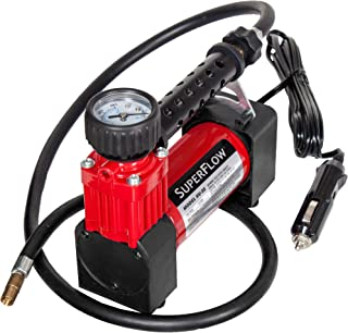 SuperFlow Portable Air Pump, 12 volt Air Compressor, Tire Inflator 140 PSI, 12v