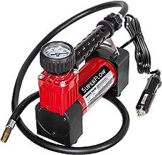 SuperFlow Portable Air Pump, 12 volt Air Compressor, Tire Inflator 140 PSI, 12v air..