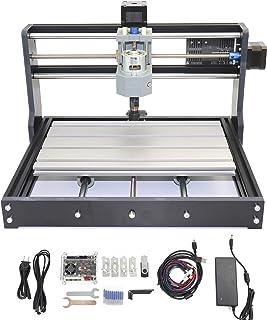 RATTMMOTOR GRBL制御 CNC 3018 PRO ルーターキット DIY ミニフライス盤 USB 卓上 CNC 彫刻機 作業エリア30×18×4.5cm、プラスチック、PCV、木材、木彫り用