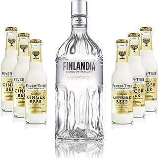 Moscow Mule Set - Finlandia Vodka 1L 40% Vol  6x Fever Tree Ginger Beer 200ml - Inkl. Pfand MEHRWEG