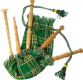 Kids Bagpipe Miniature Playable Bagpipe with Reed In Heritage of Ireland Tartan