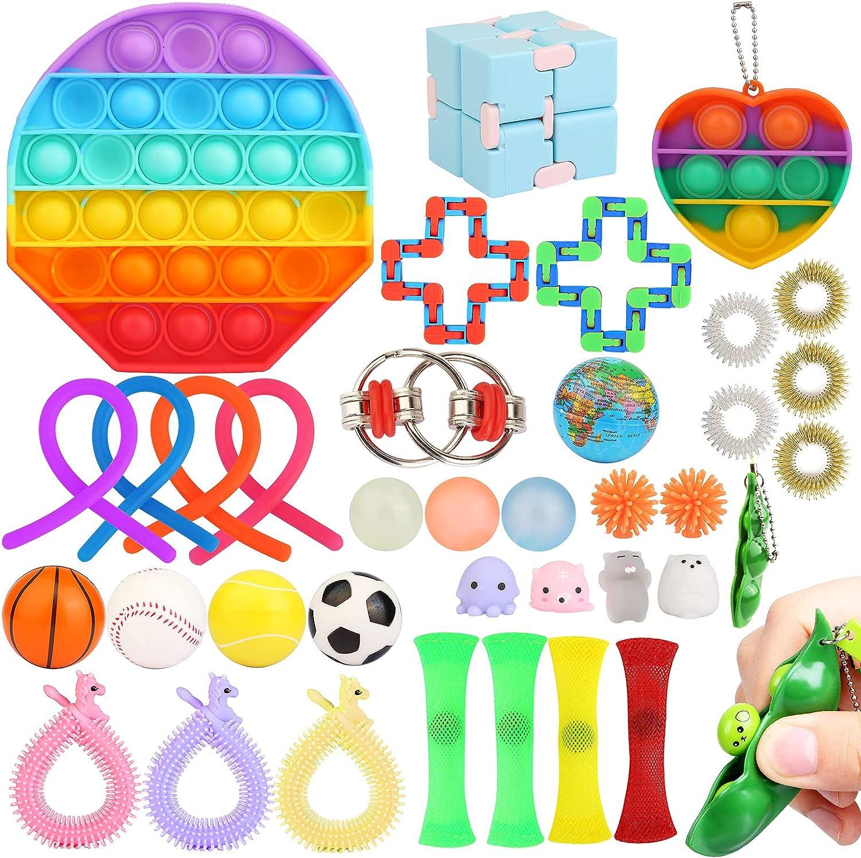 Sensory Fidget Bargain sale Toys Large-scale sale Set Box 37 Adults&Kids Toy for