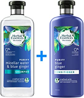 Herbal Essences Bio:Renew Micellar Water and Blue Ginger Shampoo 400 ml + Conditioner 400ml