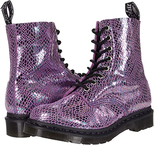 Purple Snake Metallic Suede