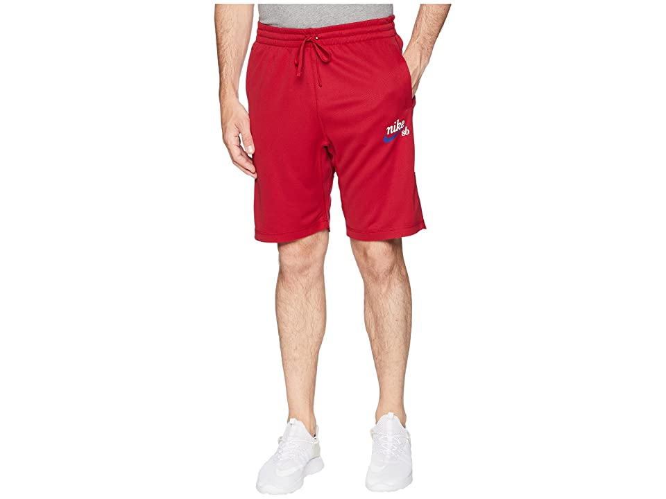 Nike SB SB Dry Sunday Crafty Shorts (Red Crush/White) Men