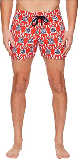 Vilebrequin - Moorise Primitive Turtles Swim Trunk