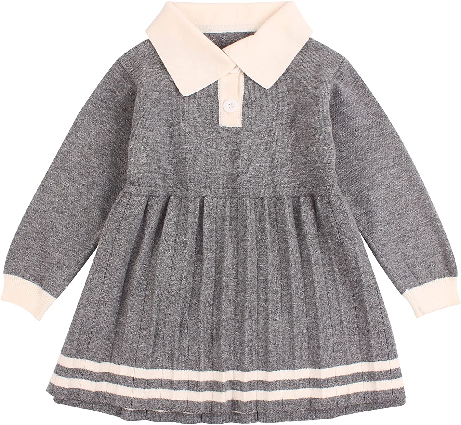 Ruffles Max 42% OFF Baby Girls Cardigan Warm Infant Gi Toddler Sweater Dress Al sold out.