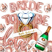 Big BRIDE TO BE Balloons Bachelorette Party Decoration Kit - Bridal Shower Supplies & Accessories - Complete Hen Party Decorations Balloons Set