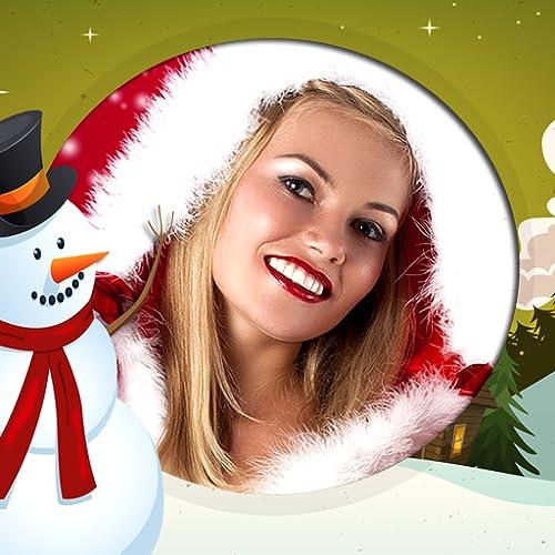 Marcos de la foto del muñeco de nieve