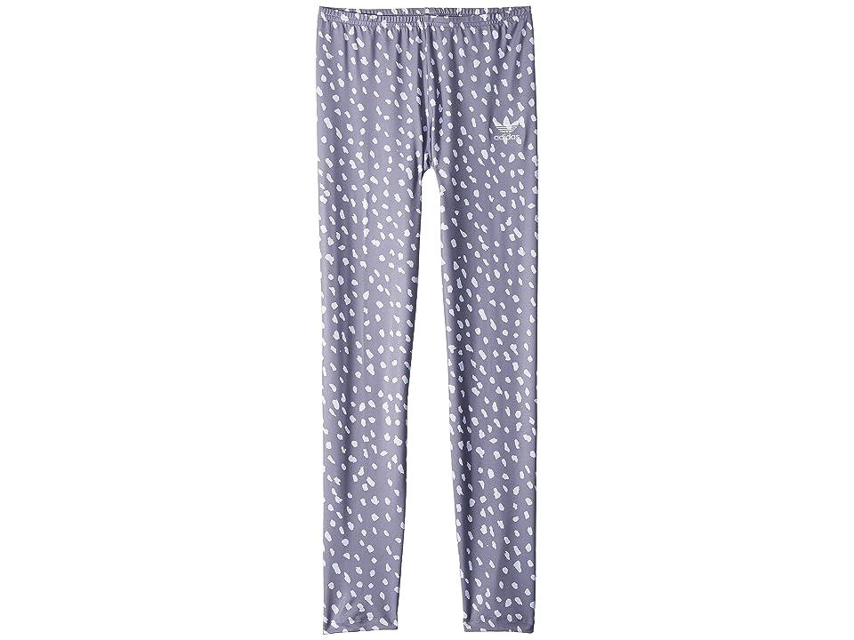 Image of adidas Originals Kids NMD Leggings All Over Print (Little Kids/Big Kids) (White/Grey Three) Girl's Casual Pants