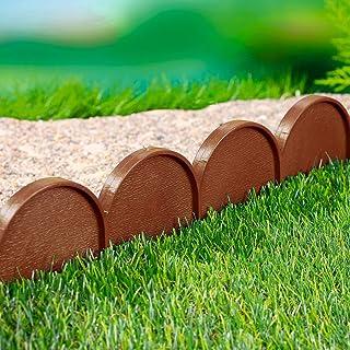 awhao 20 pezzi pannelli di recinzione effetto pietra giardino pieghevole erba prato bordi della pianta decorativo paesaggio percorso pannelli di recinzione guardia per bordi lunghi 5 m//contribution