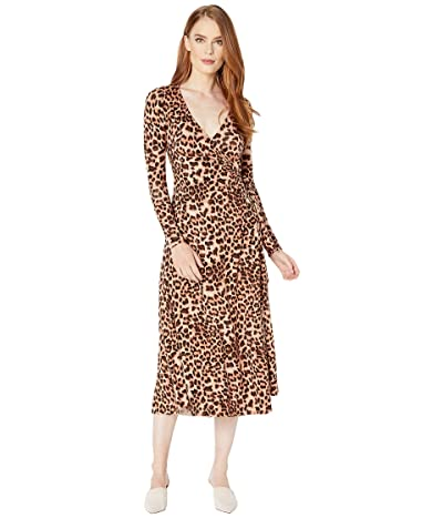 Rachel Pally Jersey Mid-Length Harlow Dress (Leopard) Women