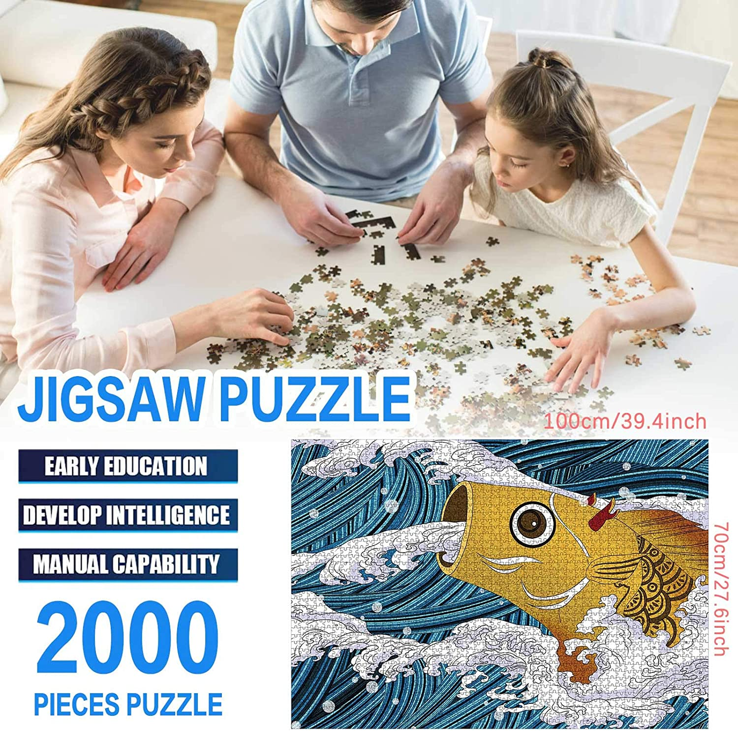 Home Fun 2000 Piece Jigsaw Puzzles for Adults 2000 Piece Adult Puzzles Jigsaw Puzzles 2000 Pieces for Adults Kids Toys Game
