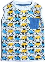 kid studio Boys Tshirt for Kids 1-7 Years Cotton Sleeveless Round Neck Printed Graphic Tees