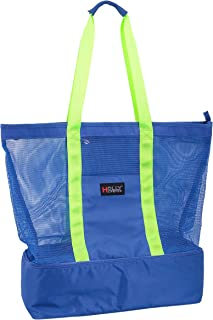 Holly LifePro Mesh Beach Bag,Toy Pool Tote Bag,Light weight Picnic Tote with Zipper Top and Insulated Cooler, Carry All Or...