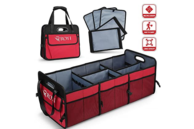 SUV Truck Durable Col Premium Quality Auto Trunk Organizer by FORTEM For Car