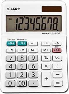 Sharp EL-310WB Calculator, White 3.125