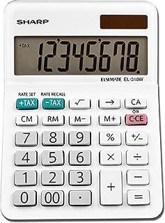 Sharp EL-310WB Calculator, White 3.125