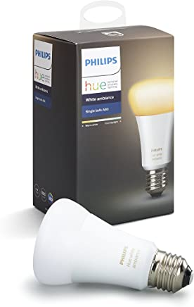 Philips Hue White Ambiance Edison Screw (E27) Dimmable LED Smart Bulb (Compatible with Amazon Alexa, Apple HomeKit, and Google Assistant)