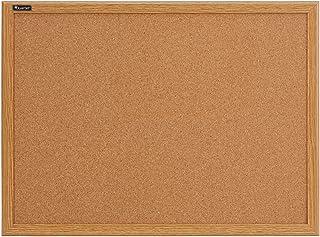 Quartet Corkboard, Framed Bulletin Board, 3' x 2', Cork Board, Oak Frame (85223B)