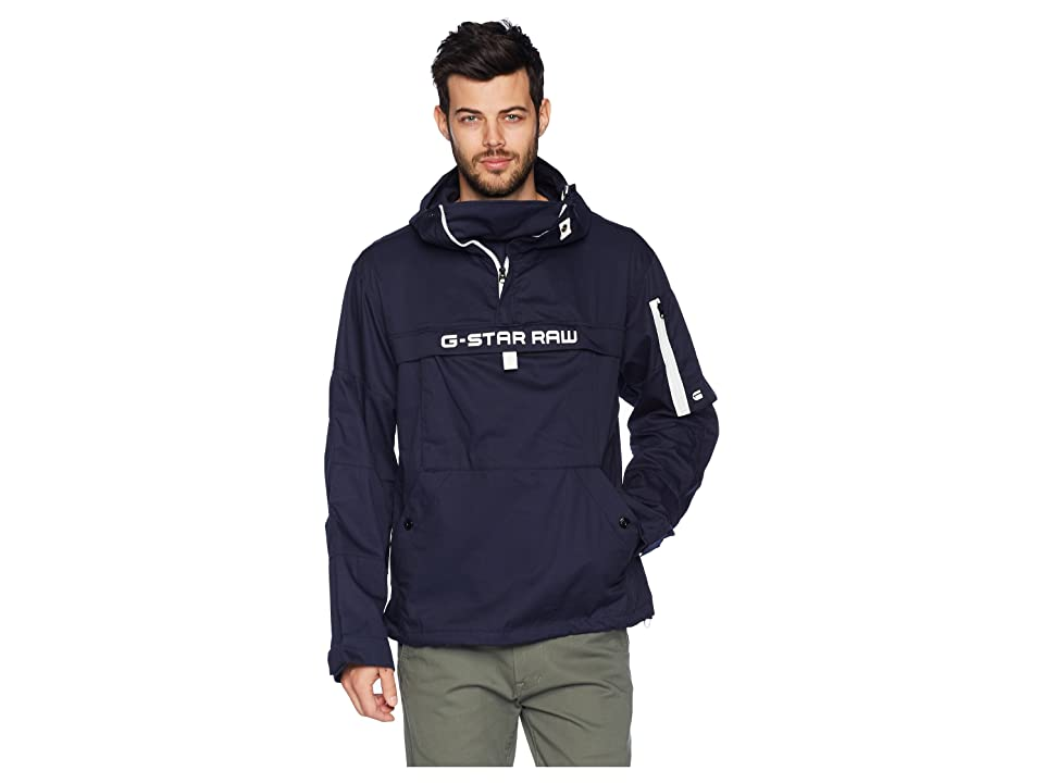 G-Star Rackam Hooded Anorak Jacket (Sartho Blue) Men