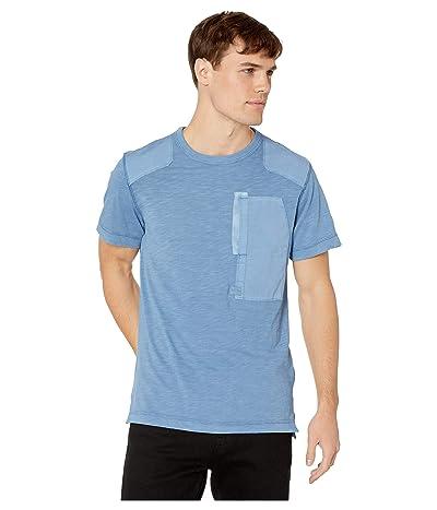 G-Star Arris Pocket Round Neck Short Sleeve T-Shirt (Dark Delta Blue) Men