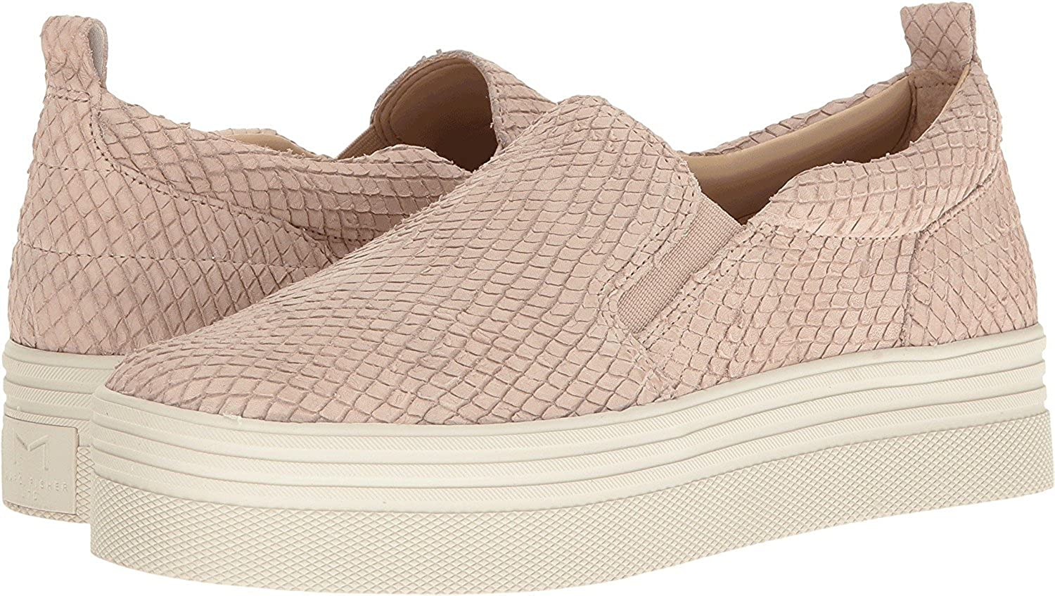 Marc Fisher Womens Elise Leather Low Top Slip On Fashion Sneakers