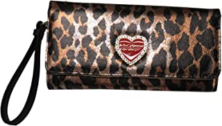 Betsey Johnson Women's Trifold Wristlet/Wallet, 8