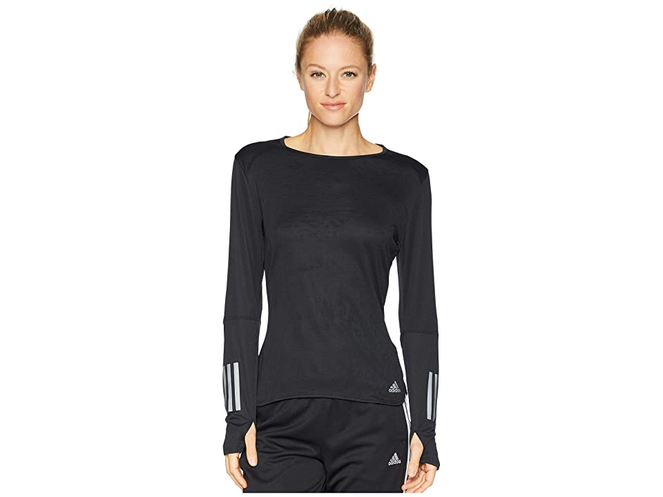 adidas Response Long Sleeve Tee (Black) Women