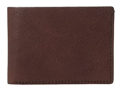 Bosca Washed Collection Small Billfold (Brown) Wallet Handbags