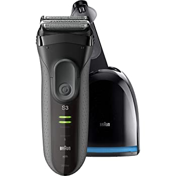 Braun Electric Razor for Men, Series 3 3050cc Electric Shaver, Rechargeable, Wet & Dry Foil Shaver, Clean and Charge Station