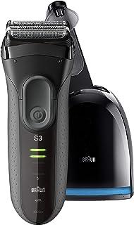 Braun سری 3 ProSkin 3050cc مردان برقی فایبر شویی / برش الکتریکی قابل شارژ و ایستگاه تمیز و شارژ، سیاه