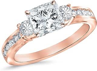 channel set diamond ring princess cut
