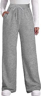 Women's Fall Pants with Pockets Winter Wide Leg...