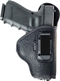 Cardini Leather Inside The Waistband Holster for Kahr CW40, PM40, MK40. Soft Nylon, Comfortable Wear & Durable for Conceal Carry.