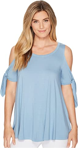 Cold Shoulder Knot Top