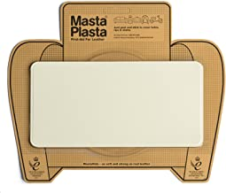 MastaPlasta Self-Adhesive Patch for Leather and Vinyl Repair, Large, 8 x 4 Inch Plain Large Off-white IVORYLARGE8X4STITCHUSA