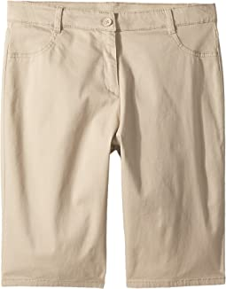 Girls Plus Five-Pocket Sateen Bermuda Shorts (Big Kids)