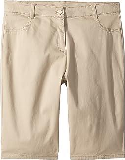 Girls Plus Five-Pocket Sateen Bermuda Shorts (Big Kids)