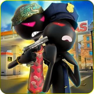 Shadow Gangster  Super Hero Battle Simulator 3D: Vegas City Stickman Criminal Cops Vs Police Fighting Shooting Adventure Mission Games Free For Kids 2018