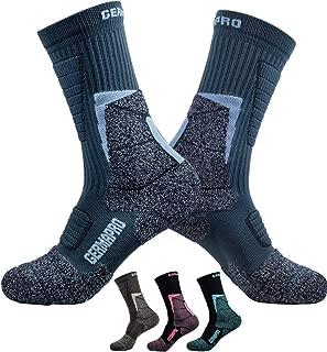 Mens Hiking Socks Outdoor Boot Work Socks w/Anti-Odor-Blister Moisture Wicking Germanium & Coolmax All Season 1/2 pairs